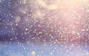Snow falling in the sky